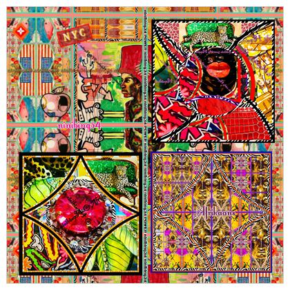 MAXI Scarf 142 x 142 cm luxoriöser Sensations-Seide