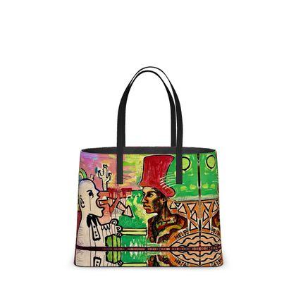 DESIGNER BIG Bag ninibing34 AFRICAANS aus feinem Nappa-Leder