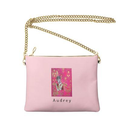 Audrey Hepburn Crossbody Bag With Chain