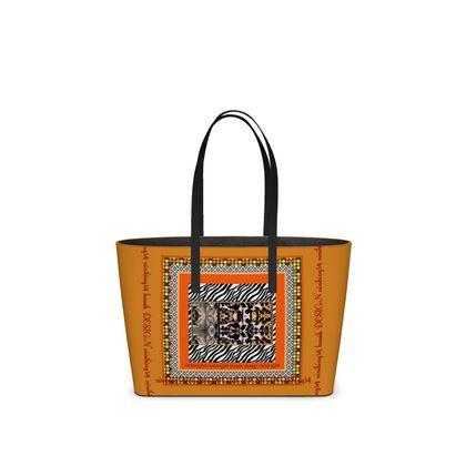 DESIGNER Nappaleder tote Bag im Birkinbag Style RETRO size klein