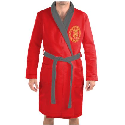 Alesi Apparel Stylish Robes- Red/Gold/Grey