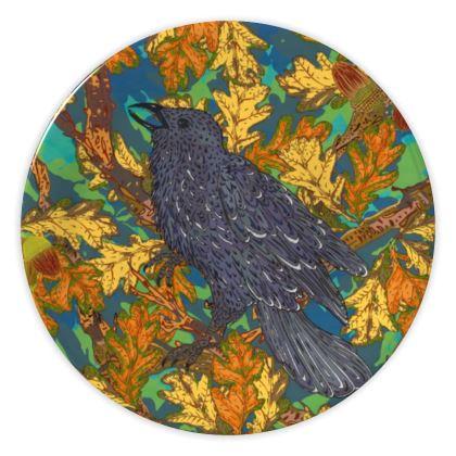 Raven and Oak China Plate