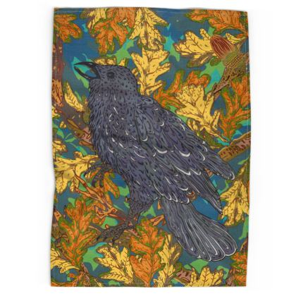 Raven and Oak Tea Towel
