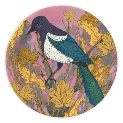 Magpie and Maple China Plate