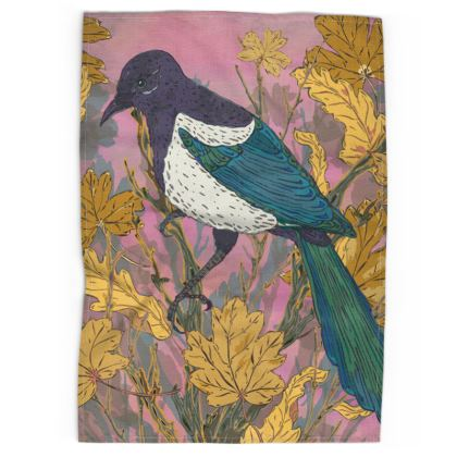 Magpie and Maple Tea Towel