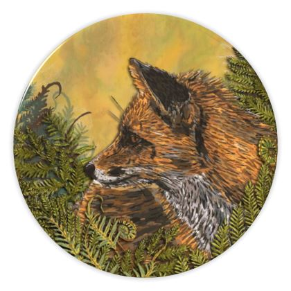 Ferny Fox China Plate