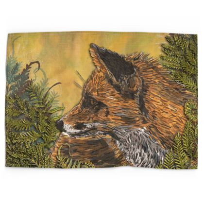 Ferny Fox Tea Towel