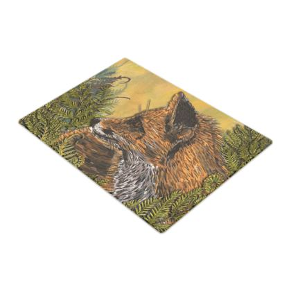 Ferny Fox Glass Chopping Board