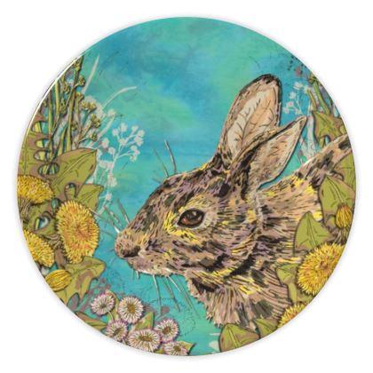 Rabbit China Plate