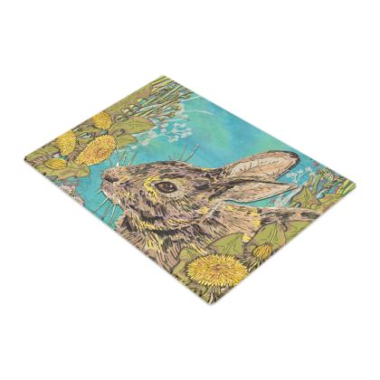 Rabbit Glass Chopping Board