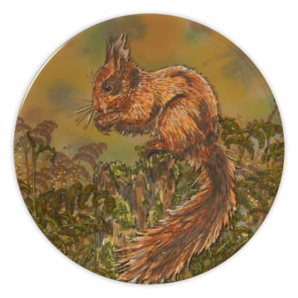 Squirrel China Plate