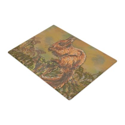 Squirrel Glass Chopping Board