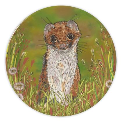 Summer Stoat China Plate