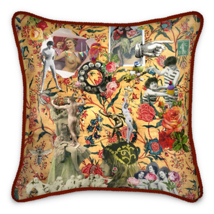 Meet you Later Silk Cushion