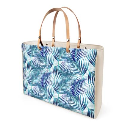 Tropical Garden Collection in Blue Handbag