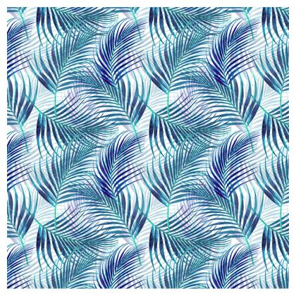 Tropical Garden Collection in Blue Zip Top Handbag