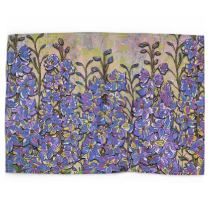 Delphiniums Tea Towel