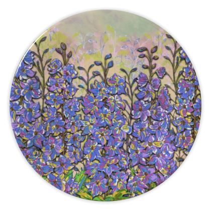 Delphiniums China Plate