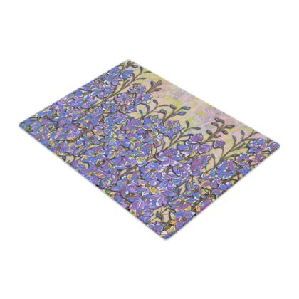 Delphiniums Glass Chopping Board