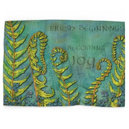 Ferns - Becoming Joy Tea Towel