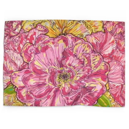Summer Roses Tea Towel