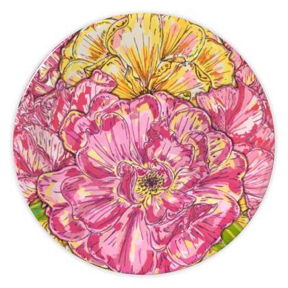 Summer Roses China Plate