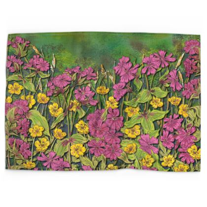 Summer Wildflower Tea Towel
