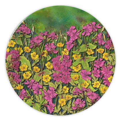 Summer Wildflowers China Plate