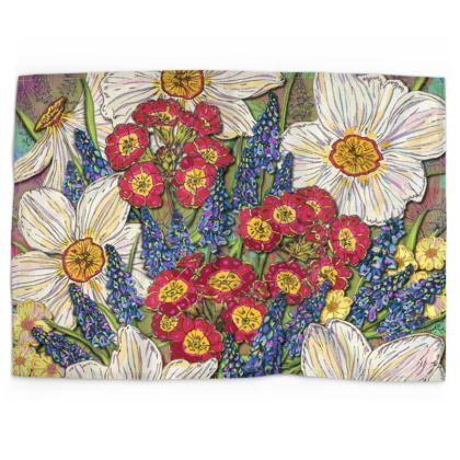 Spring Flowers Tea Towel