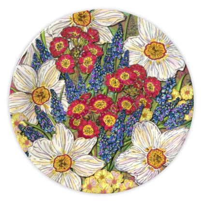 Spring Flowers China Plate