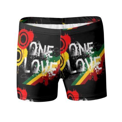 """Short de bain """"ONE LOVE"""" collection JAMDUNG FASHUN"""