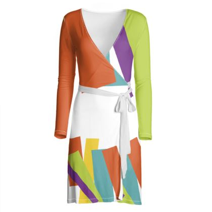 iJometri Collection  Wrap Dress—Multi Coloured