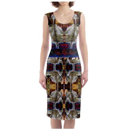 229,- Bodycon-Kleid LEO ninibing34 soft fashion Jersey size L #ninibing34