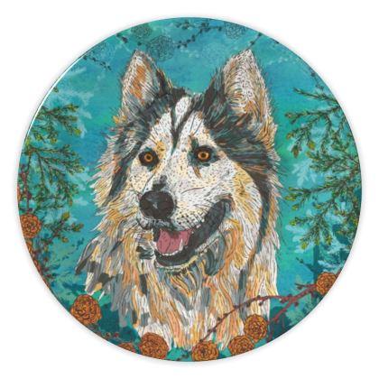 Woodland Husky China Plate
