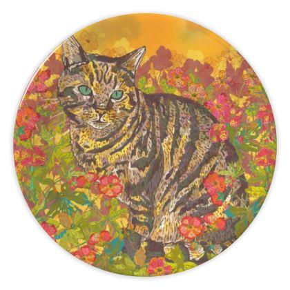 Tabby Cat China Plate