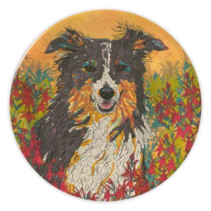 Border Collie China Plate