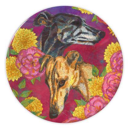 Greyhounds China Plate