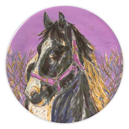 Horse with the Golden Mane China Plate