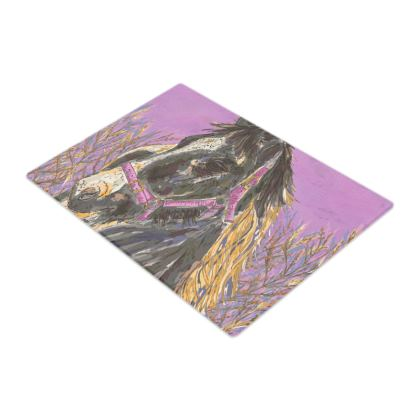 Horse with the Golden Mane Glass Chopping Board