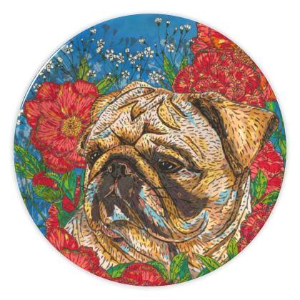 Pretty Pug China Plate