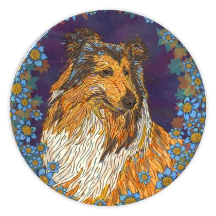 Rough Collie (Blue) China Plate