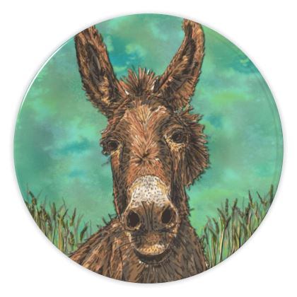 Brown Donkey China Plate