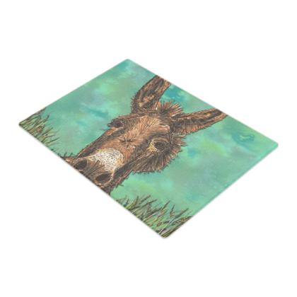 Brown Donkey Glass Chopping Board