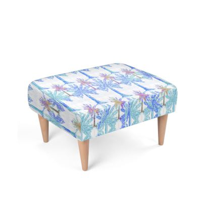 Oasis Collection in blue Footstool