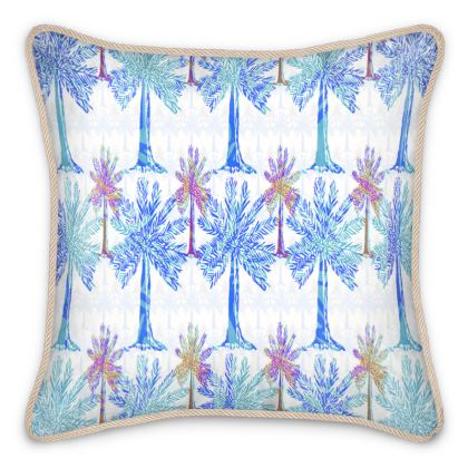 Oasis Collection in blue Silk Cushion