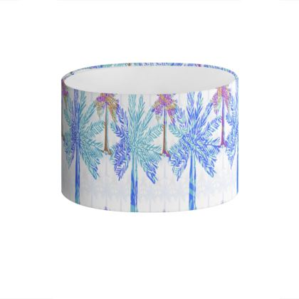 Oasis Collection in blue Drum Lamp Shade