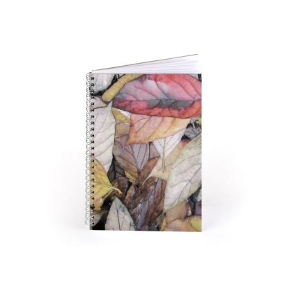 Autumn Leaves Spiral Note Books