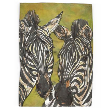 Zebras Tea Towel