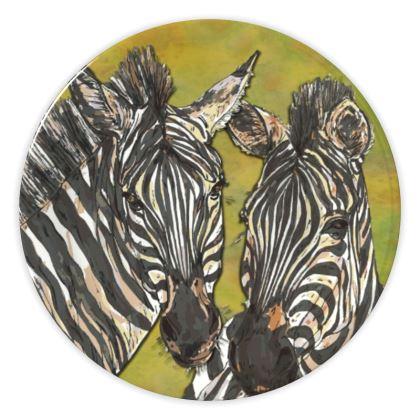 Zebras China Plate