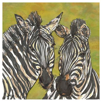 Zebra Zip Top Handbag